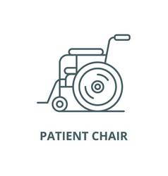 Patient chair line icon linear concept vector
