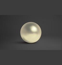 Pearl isolated on dark background luxury vector