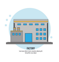 Plant building chimney factory industry icon vector