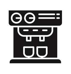 professional coffee machine icon vector image