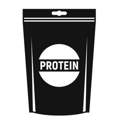 Protein package icon simple style vector