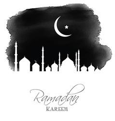 Ramadan kareem watercolor background vector