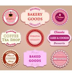 Set of coffee label design vector