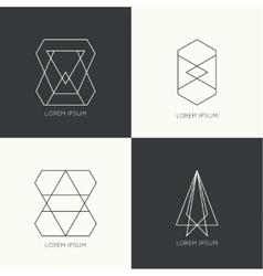 Set of hipster logo vector image