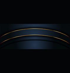 Simple minimalism dark navy background and golden vector