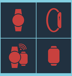 smart watches set vector image