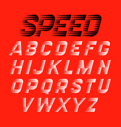 Speed style font vector