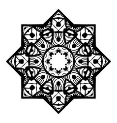 Stencil Mandala Design vector