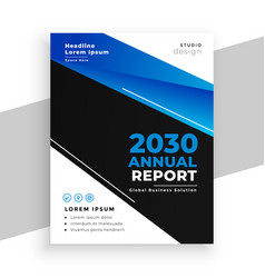 stylish blue and black business annual report vector image