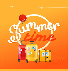 Summer time concept with color handbags vector