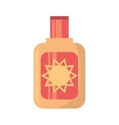 Sun blocker cream solar beach vector