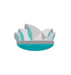 sydney opera house australia icon on white vector image