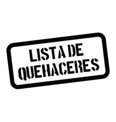 To do list stamp in spanish vector