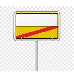 town entry and exit city limit road sign template vector image