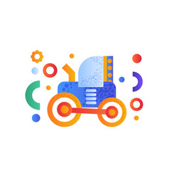 tractor heavy agricultural industrial machinery vector image