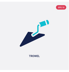 Two color trowel icon from construction tools vector