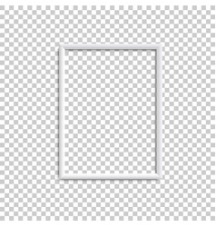 vertical white blank picture frame realistic vector image
