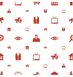 View icons pattern seamless white background vector