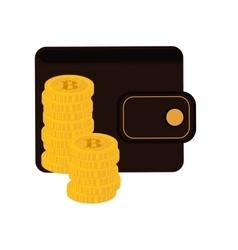 wallet money financial item design vector image