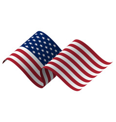 waving flag united states of vector image