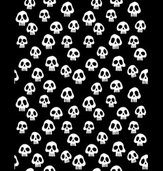 white skulls halloween pattern vector image
