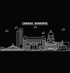 Winnipeg silhouette skyline canada - winnipeg vector