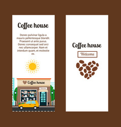 coffee house vertical flyers vector image vector image