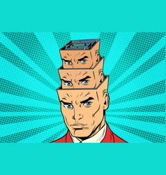 head a maze of personality inside the head vector image