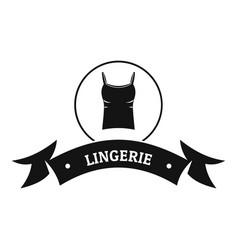 lingerie fashion logo simple black style vector image vector image