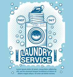 retro poster for dry cleaning advertisement vector image vector image