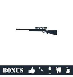 Sniper Rifle icon flat vector image