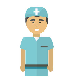 hospital professional doctor with uniform vector image vector image