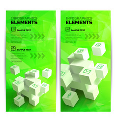 infographic geometric vertical banners vector image vector image