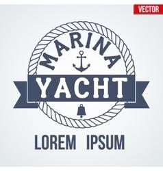 Nautical Yacht logotype vector image