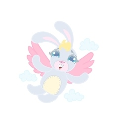 Rabit With Wings Flying vector image vector image