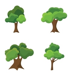 Set of abstract stylized trees Natural vector image vector image