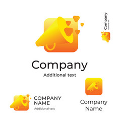 speaker modern logo bright identity brand symbol vector image