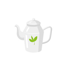 teapot flat isolated isolated vector image