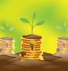 Tree Saving Finance Coin Money vector image