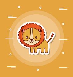 cute lion icon image vector image