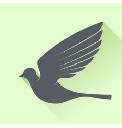 Grey bird vector