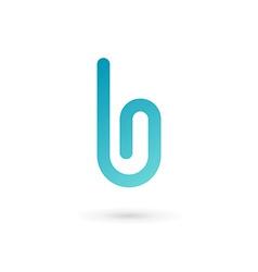 Letter b clip logo icon design template elements vector