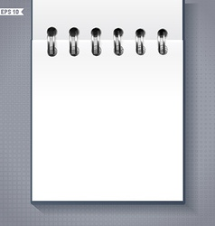 Notebook or calendar template vector image