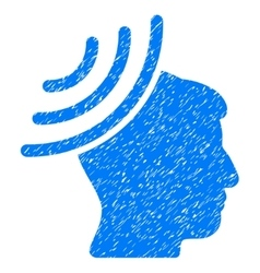 Radio Reception Mind Grainy Texture Icon vector image