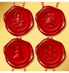 set of christmas sealing wax vector image vector image