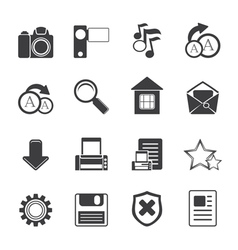 Simple Internet and Website Icons vector image vector image