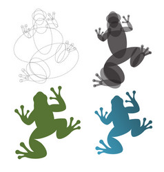 toad frog construction mark the vector image vector image