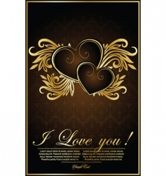 vintage background with hearts vector image vector image