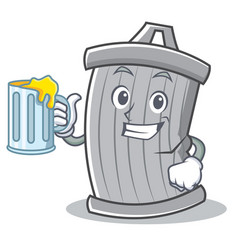 with juice trash character cartoon style vector image