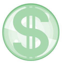 abstract dollar icon vector image vector image